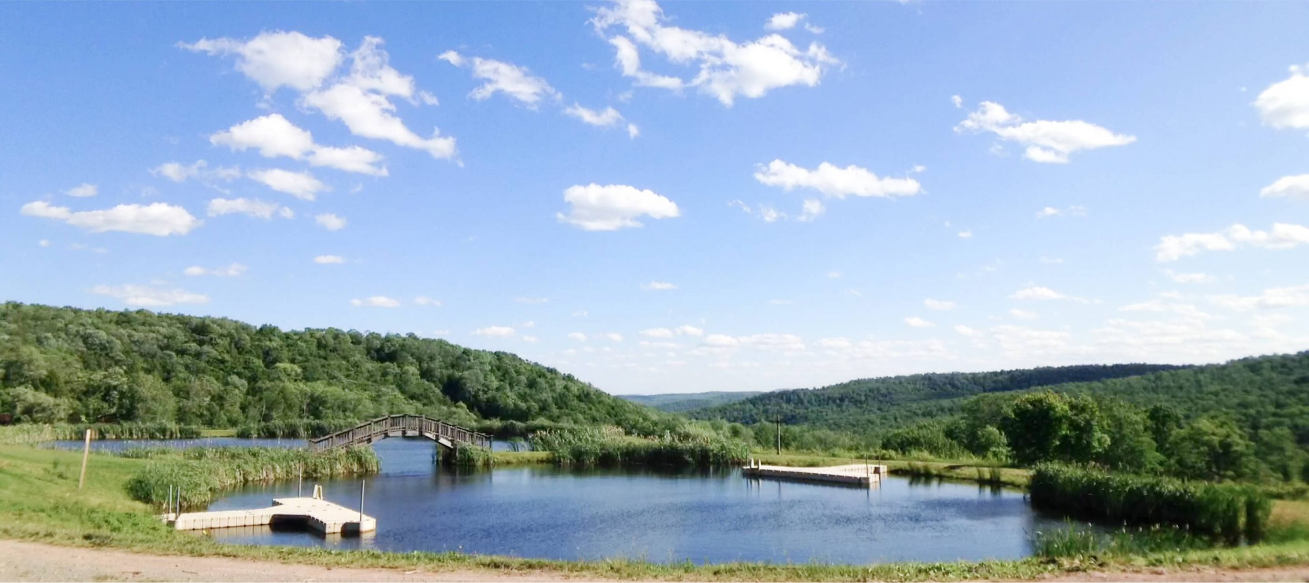 View of the lake at French Woods Sports & Arts Center
