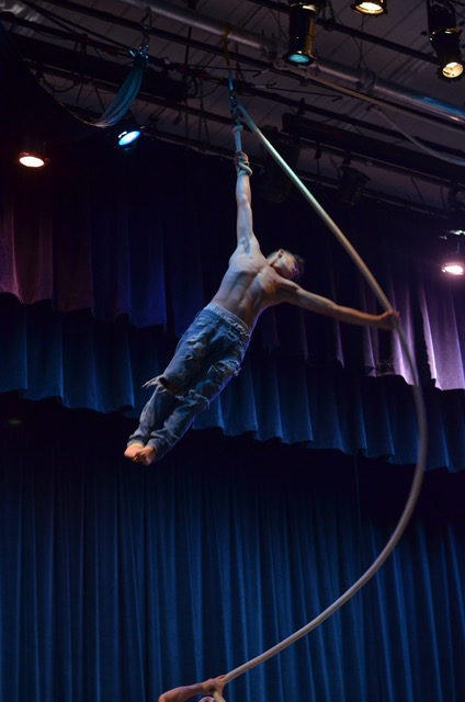 man performing in circus