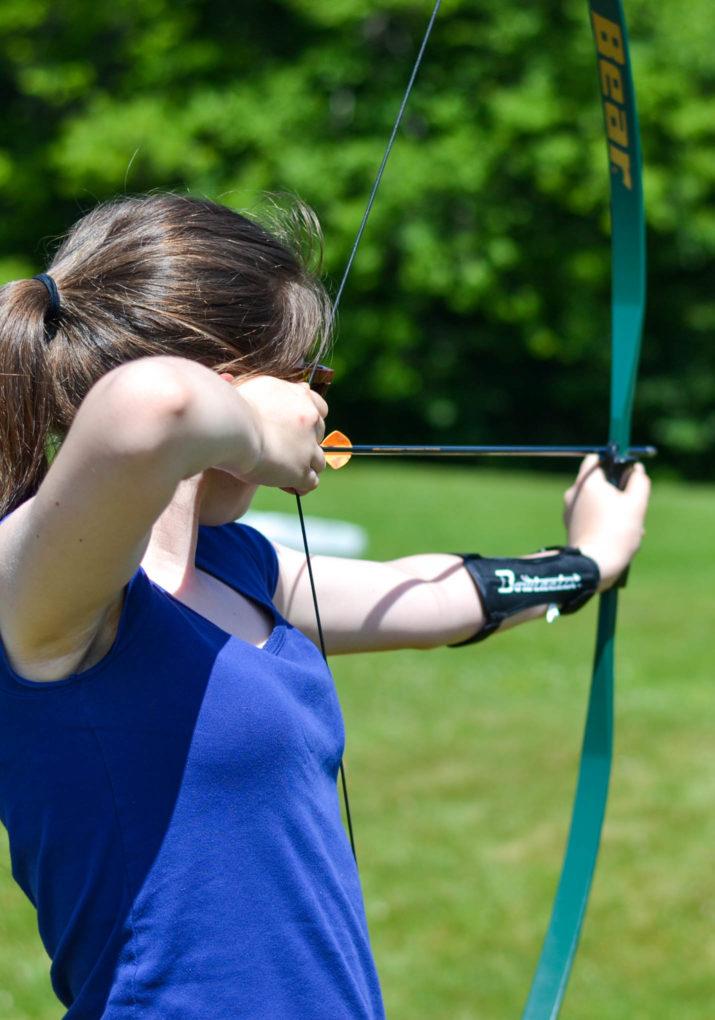 Girl on the archery field