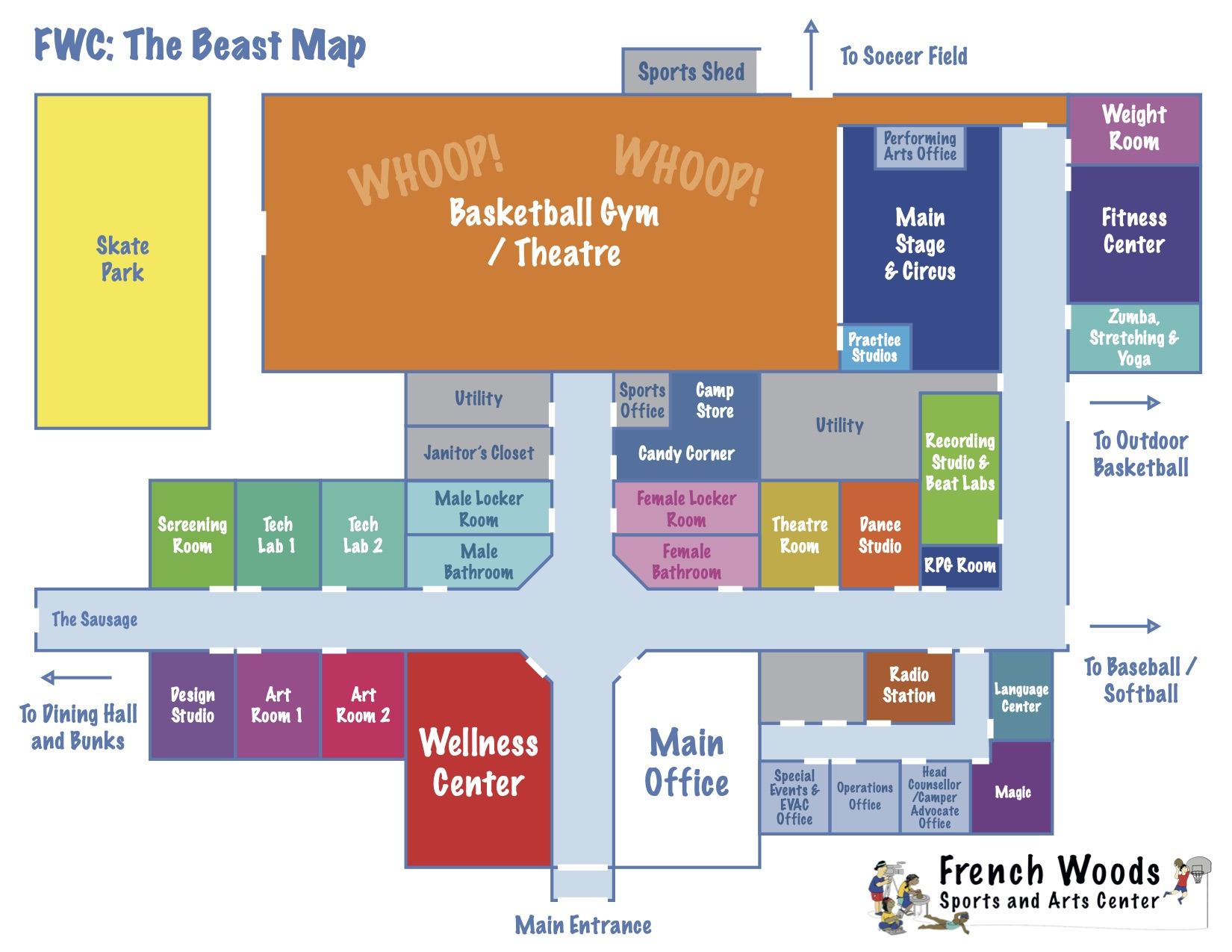 Map of The Beast building