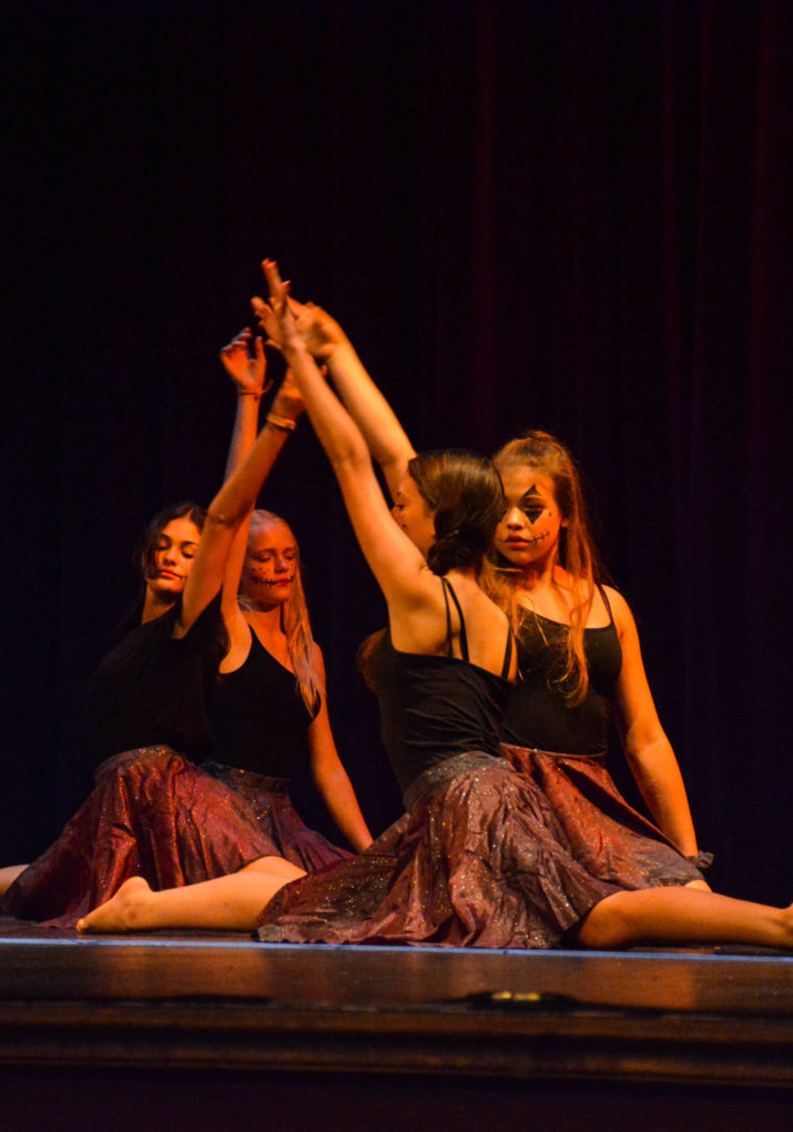 Group of dancers performing on stage