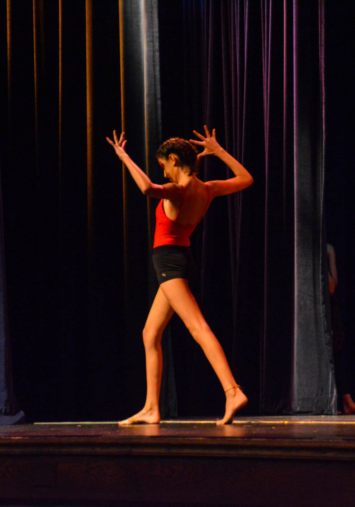 Solo dancer on stage