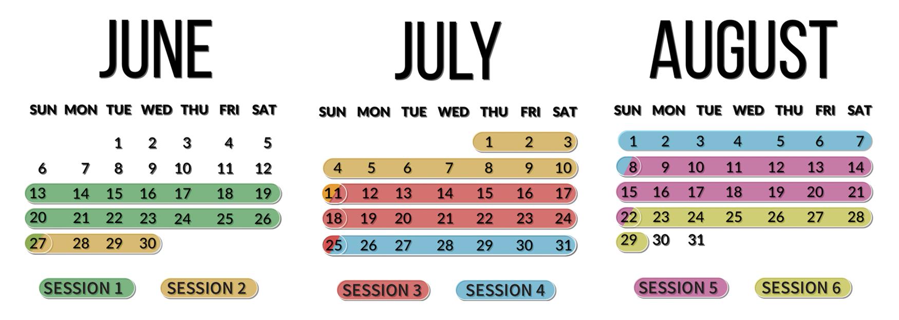 2021 summer calendar