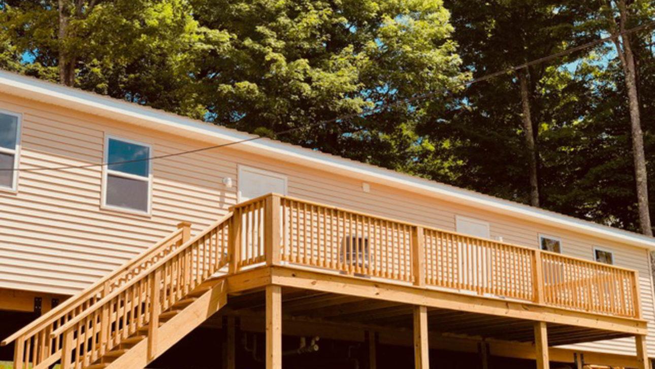 Outside of a cabin